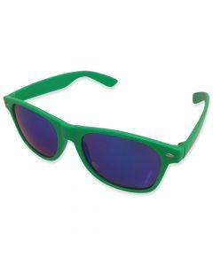 Neon Solbrille Grøn Spejlrefleks
