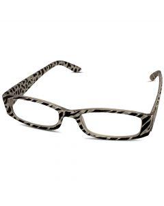 Læsebrille sort og hvid +2.0