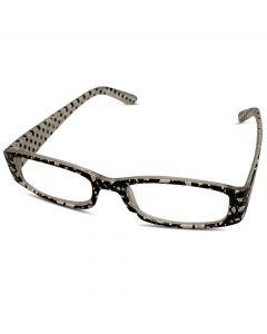 Læsebrille sort hvid +1
