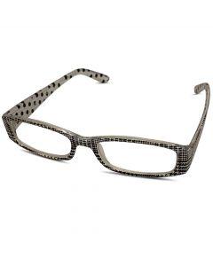Læsebrille i hvid og sort