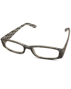 Læsebriller sorte og hvide