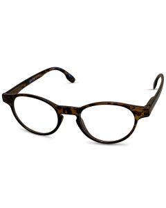 Læsebrille rund brun