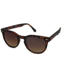 Leopard brun plast solbrille